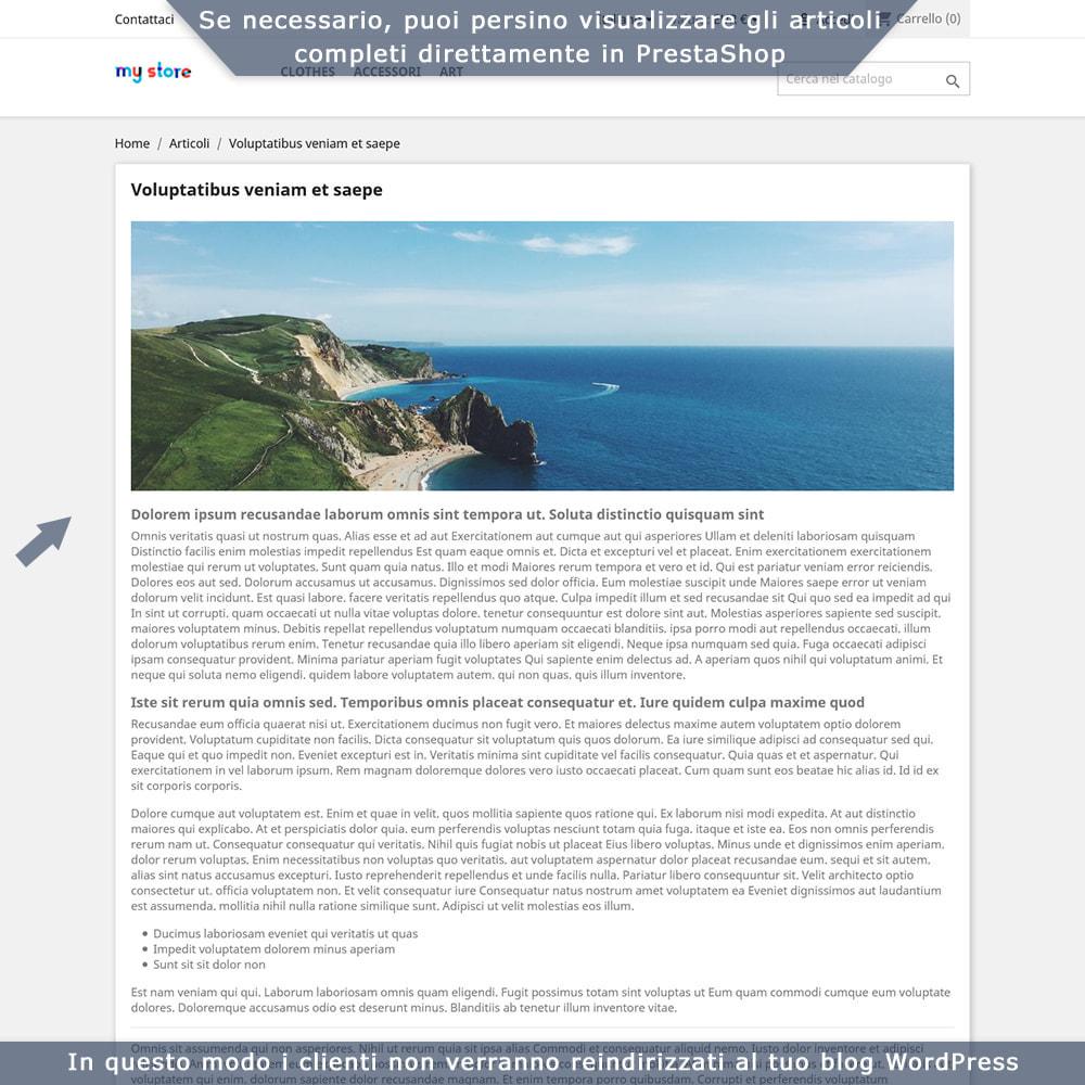 module - Blog, Forum & News - Integrazione bidirezionale PrestaShop e WordPress - 6