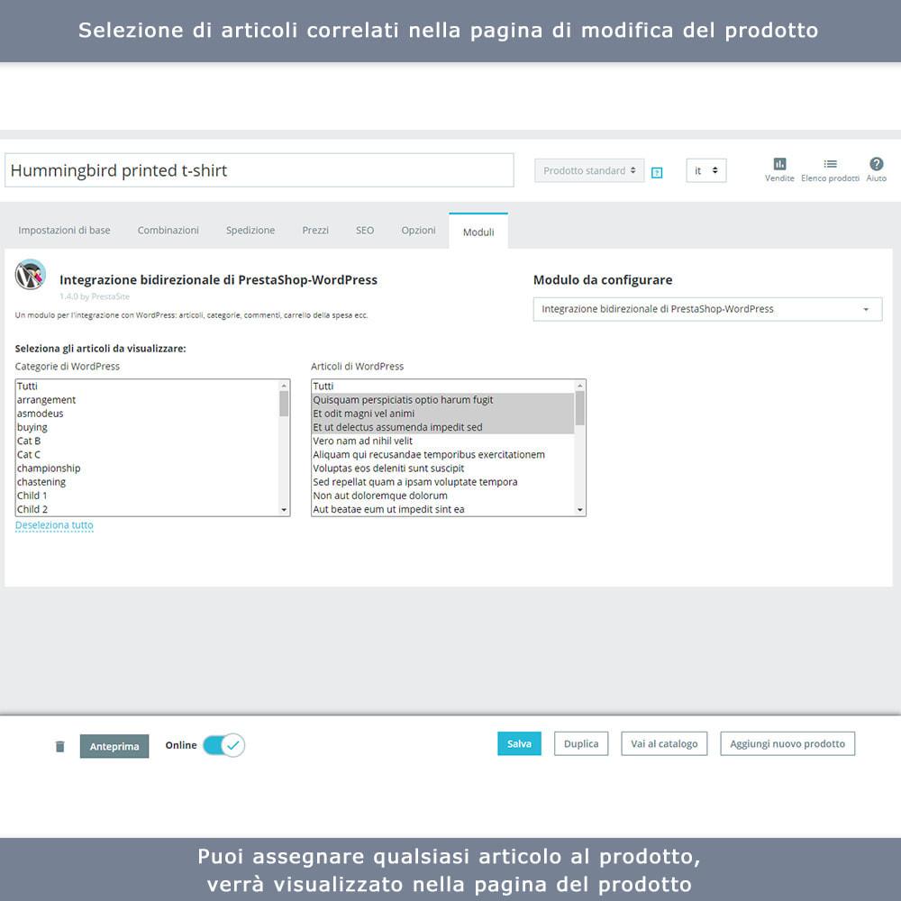 module - Blog, Forum & News - Integrazione bidirezionale PrestaShop e WordPress - 10