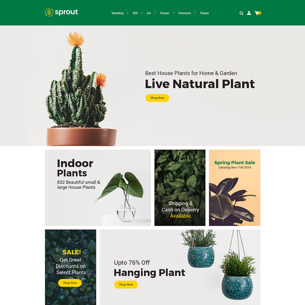 theme - Huis & Buitenleven - Sprout Plant - Tree  Natural Flower Store - 1
