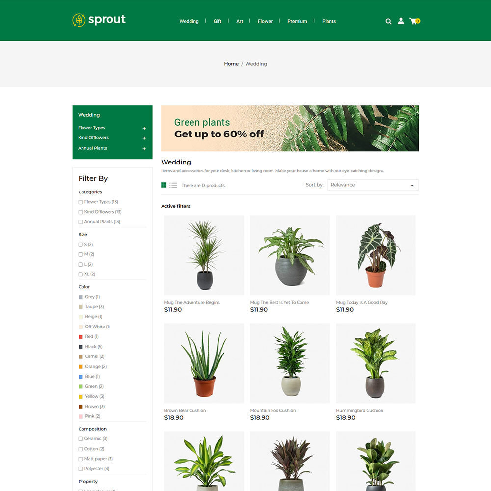 theme - Huis & Buitenleven - Sprout Plant - Tree  Natural Flower Store - 2