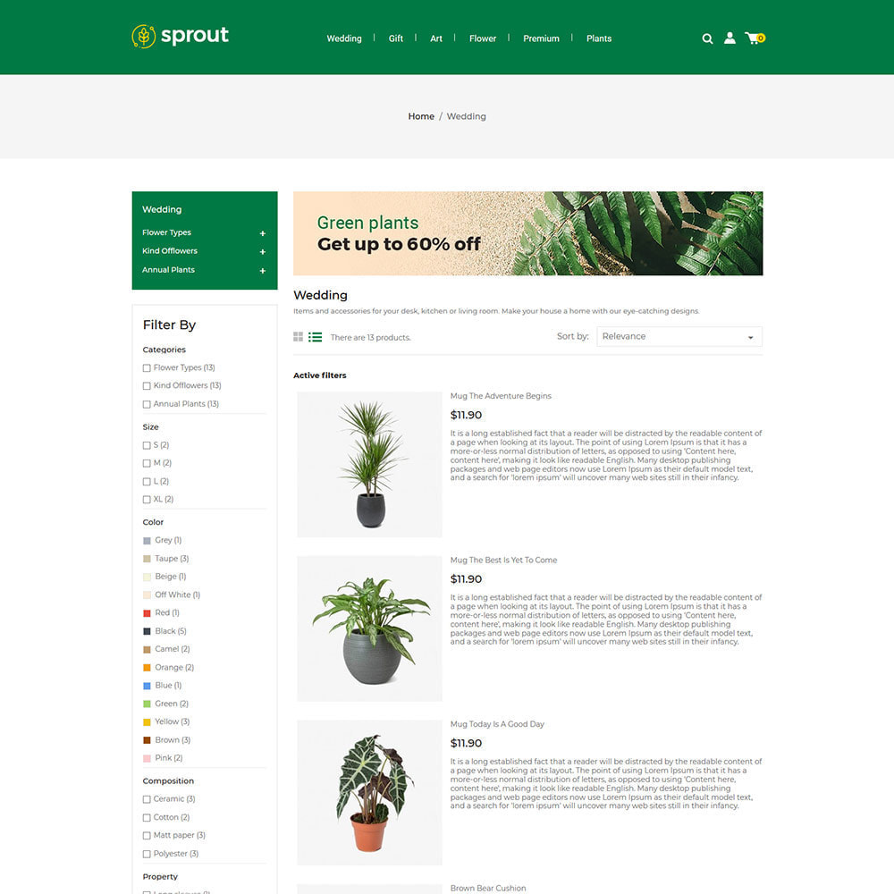 theme - Huis & Buitenleven - Sprout Plant - Tree  Natural Flower Store - 3