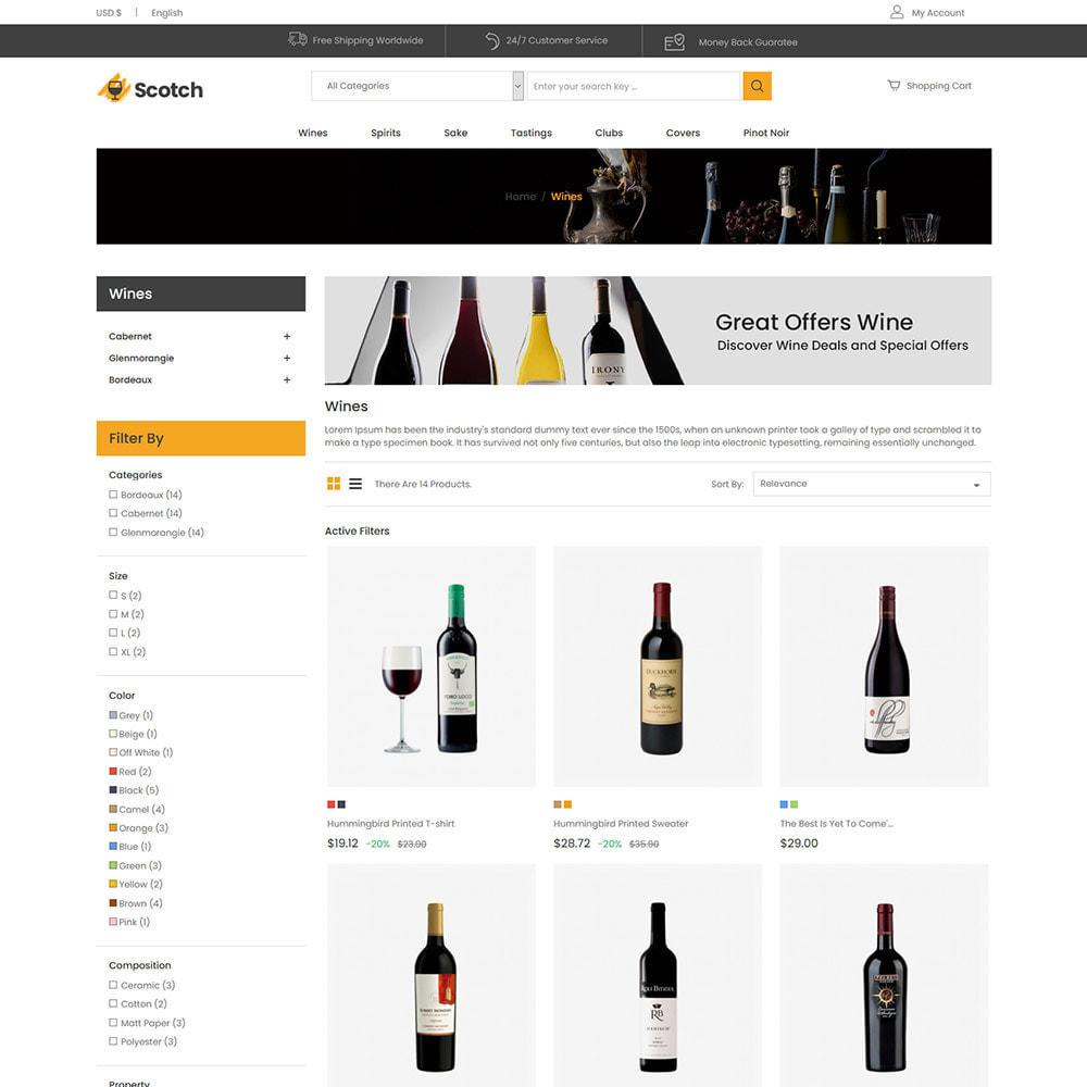 theme - Drink & Wine - Scotch Wine - Negozio di bevande alcoliche - 4