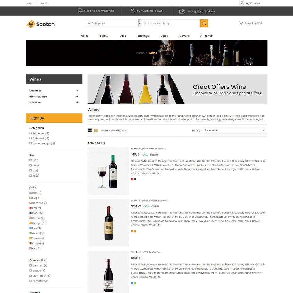 theme - Drink & Wine - Scotch Wine - Negozio di bevande alcoliche - 5