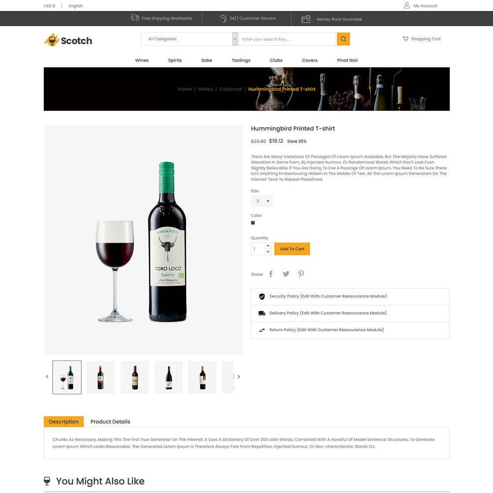 theme - Drink & Wine - Scotch Wine - Negozio di bevande alcoliche - 6