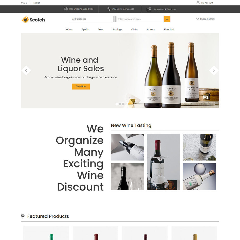 theme - Napoje & Wyroby tytoniowe - Scotch Wine - Sklep z napojami alkoholowymi - 3