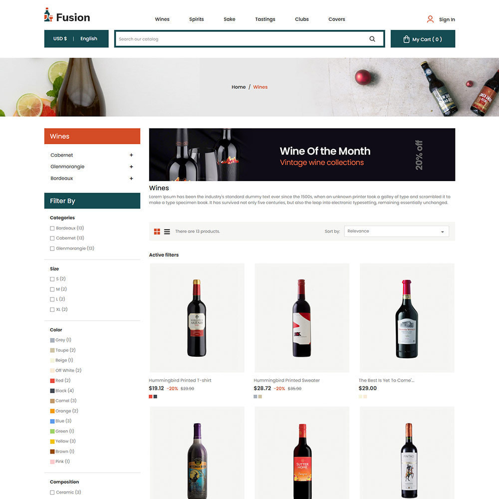 theme - Template PrestaShop - Fusion Wine - Computer Digital Drone Store - 4