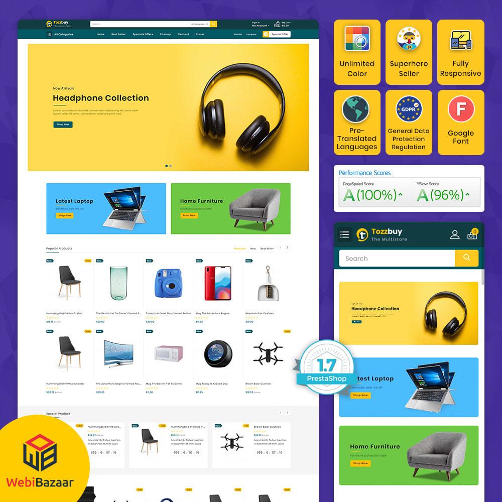theme - Elektronika & High Tech - Tozzbuy - Super Market Multipurpose Store - 1
