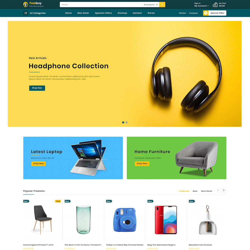 theme - Elektronika & High Tech - Tozzbuy - Super Market Multipurpose Store - 2