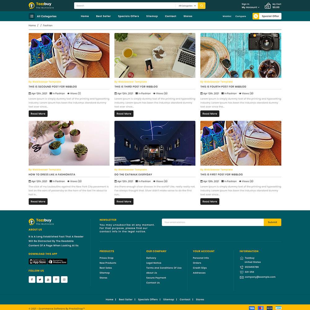 theme - Elektronika & High Tech - Tozzbuy - Super Market Multipurpose Store - 6