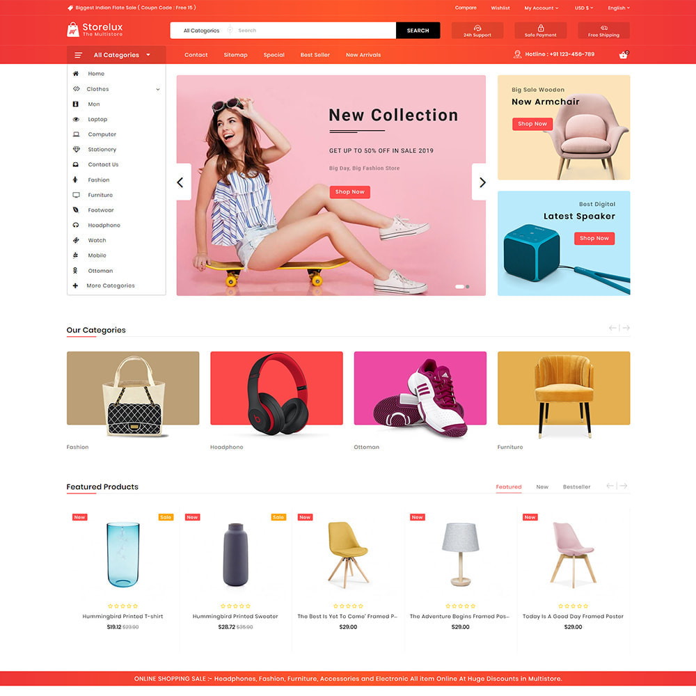 theme - Electronics & Computers - Storelux - Multipurpose Furniture Store - 2