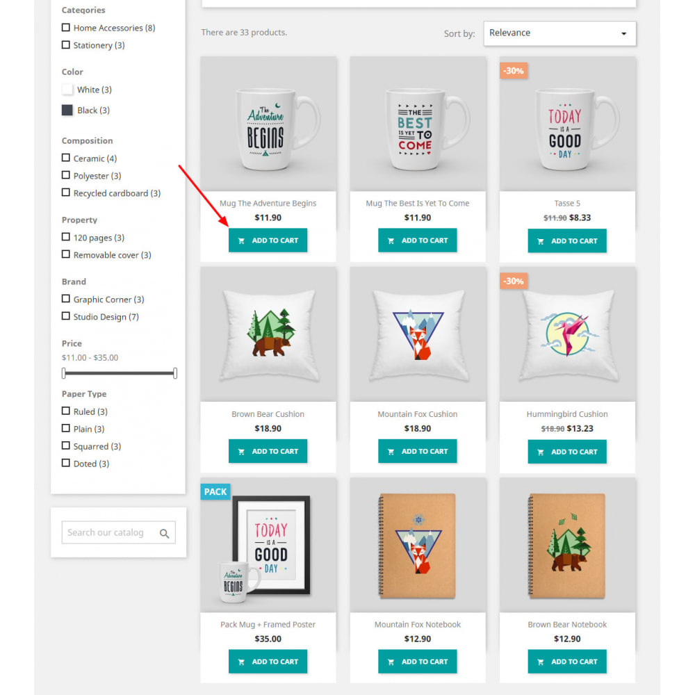 module - Inscription & Processus de commande - Display Add to Cart Button in Product listing pages - 2
