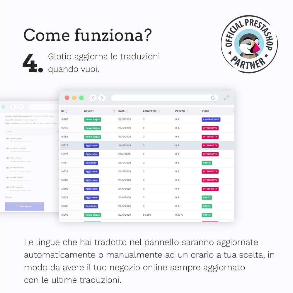 module - Lingue & Traduzioni - Glotio - Traduci il tuo PrestaShop in oltre 50 lingue - 7