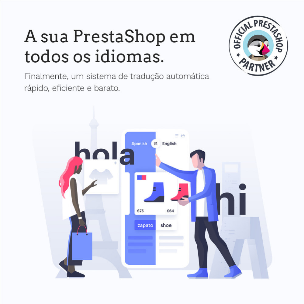 module - Internacional & Localização - Glotio - Traduza a sua PrestaShop em mais de 50 idiomas - 2