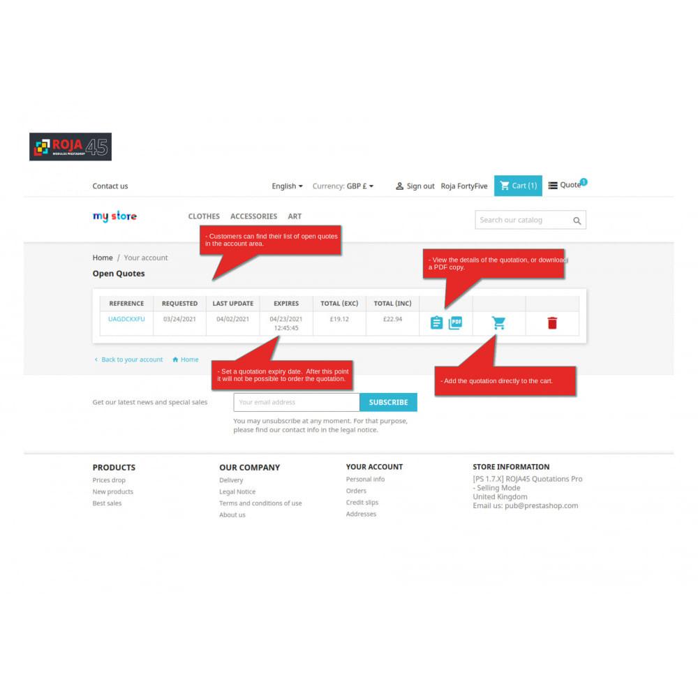 module - Presupuestos - Roja45:Cotizaciones Pro - Recibir y Enviar Cotizaciones - 4