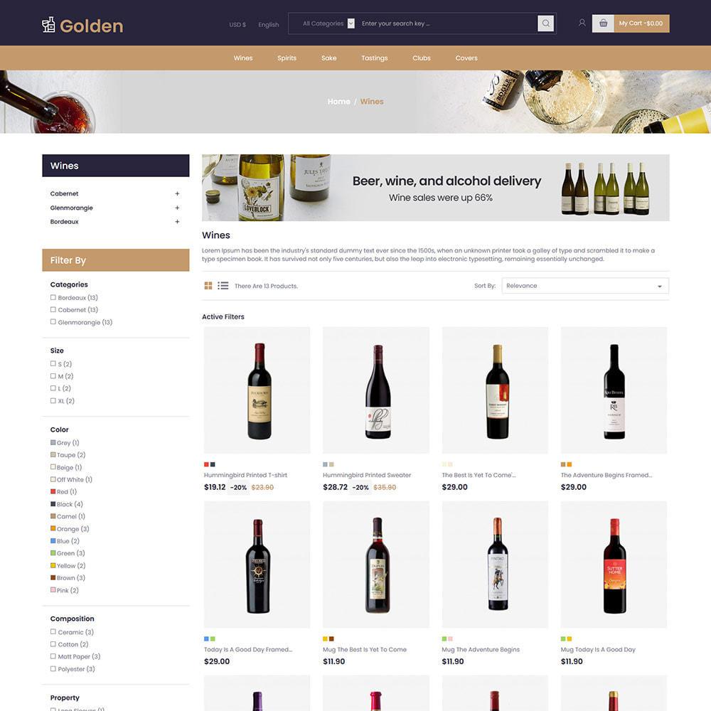 theme - Template PrestaShop - Golden Wine - Negozio di birra alcolica - 3