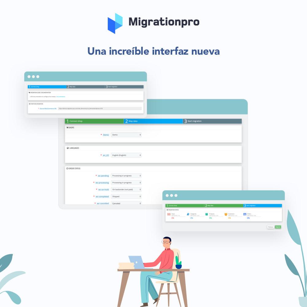 module - Migración y Copias de seguridad - Herramienta de migración de WooCommerce a PrestaShop - 6