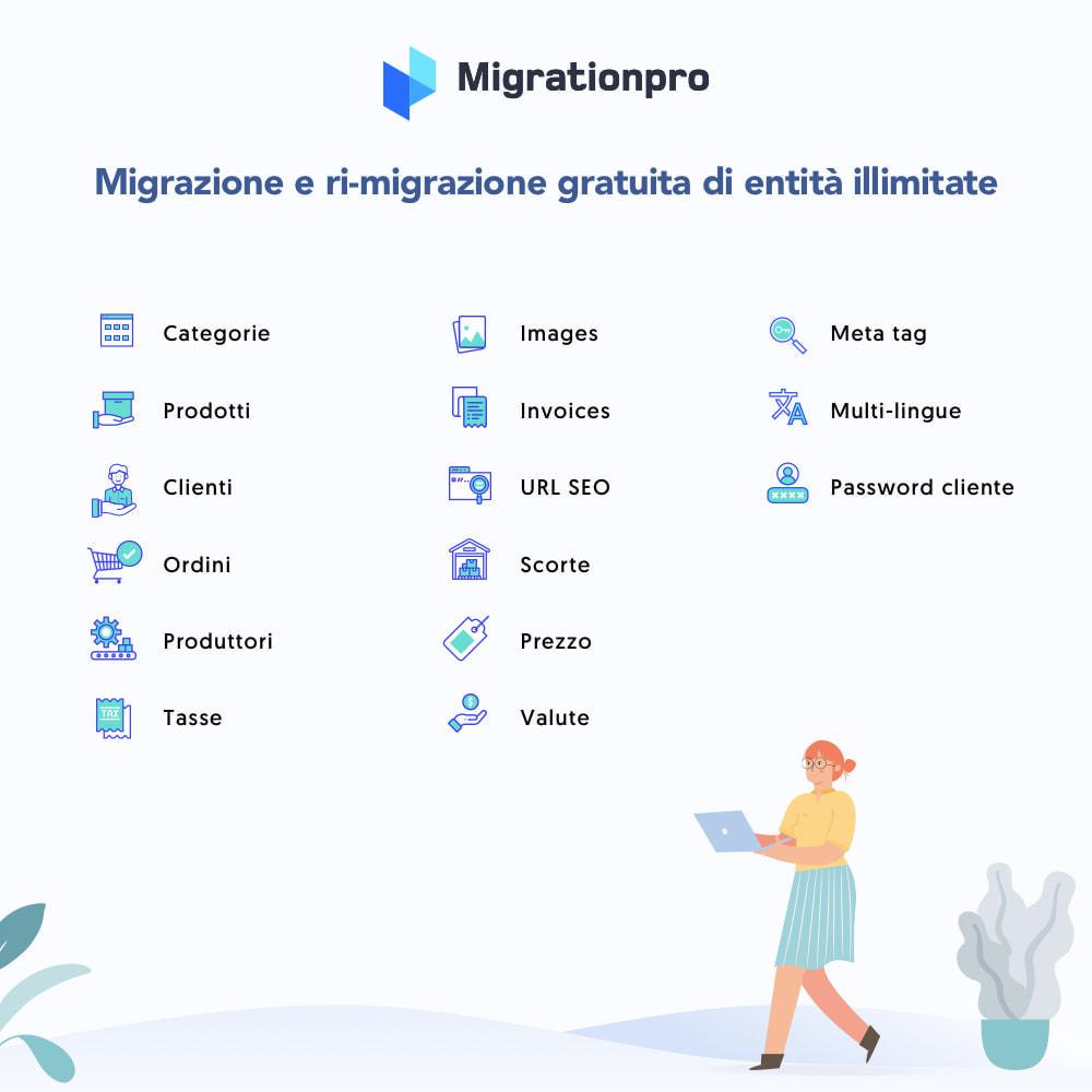 module - Data Migration & Backup - Strumento di migrazione da WooCommerce a PrestaShop - 2