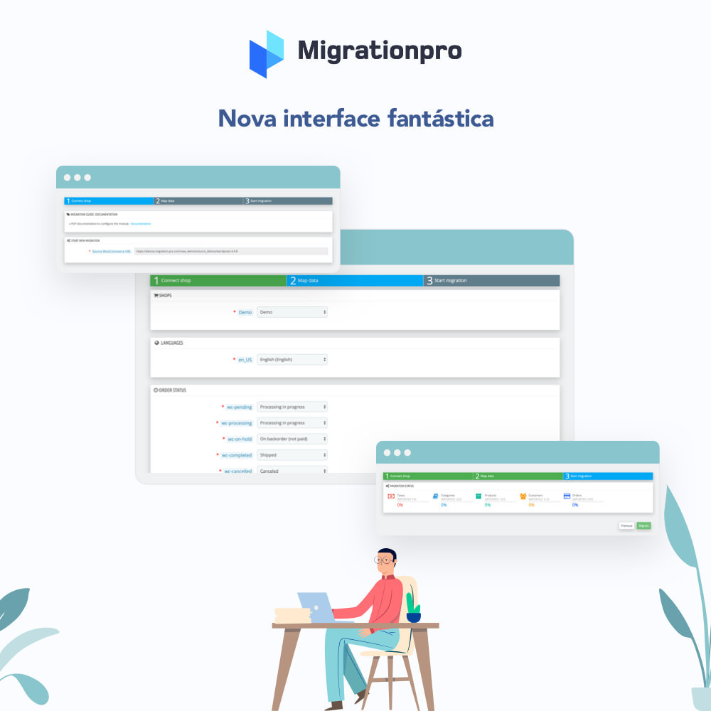 module - Migração de Dados & Registro - Ferramenta de Migração de WooCommerce para PrestaShop - 6