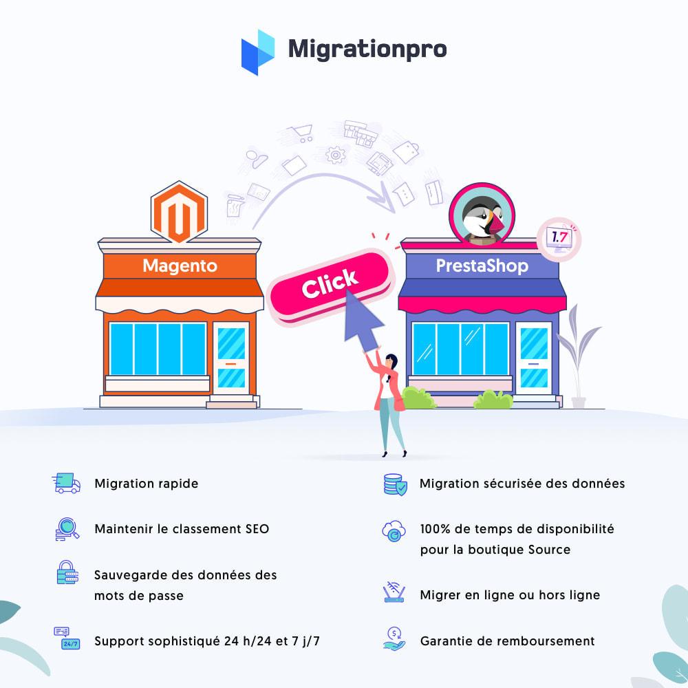 module - Migration de Données & Sauvegarde - Outil de migration Magento vers  PrestaShop - 1