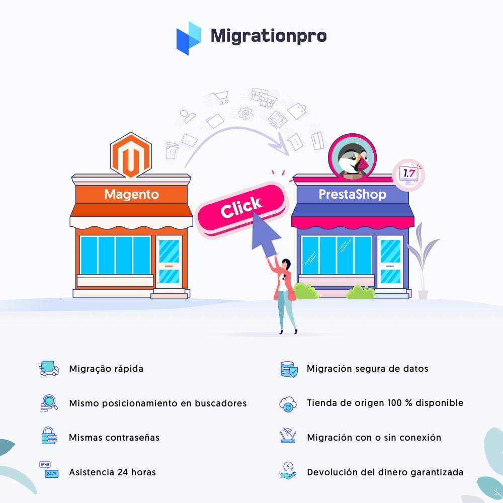 module - Migración y Copias de seguridad - Herramienta de migración de Magento a PrestaShop - 1