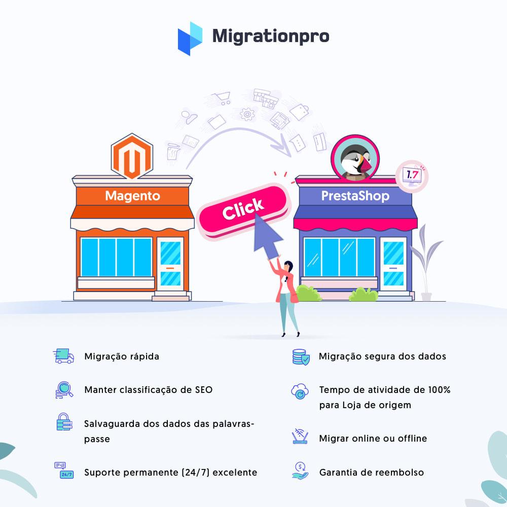 module - Migração de Dados & Registro - Ferramenta de Migração de Magento para PrestaShop - 1