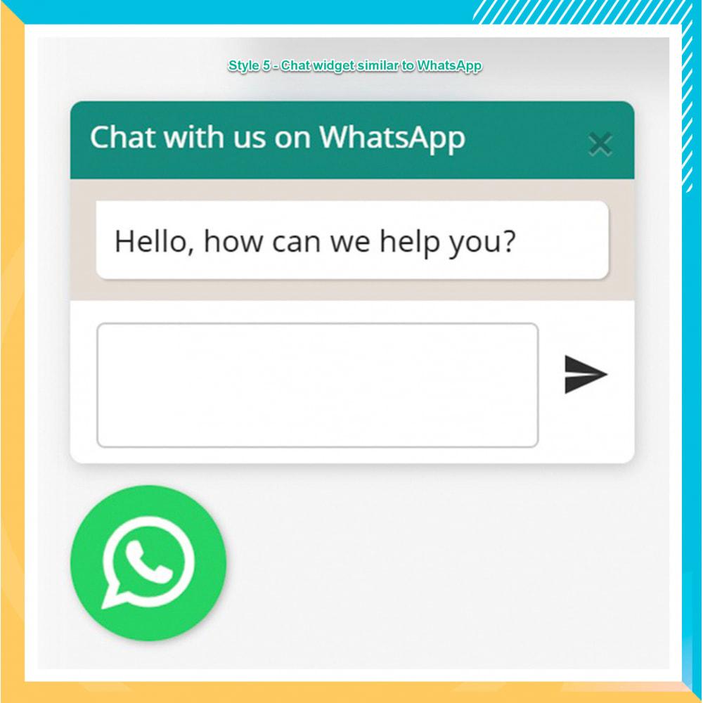 module - Support & Chat Online - Intégration WhatsApp PRO - Commande rapide, chat,agents - 16