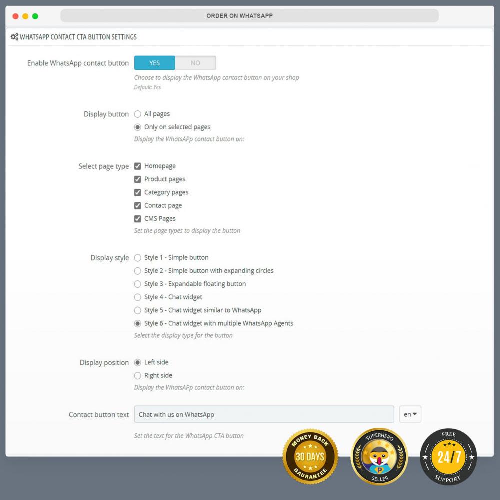 module - Support & Online-Chat - WhatsApp Integration PRO - Bestellung, Chat, Agenten - 14