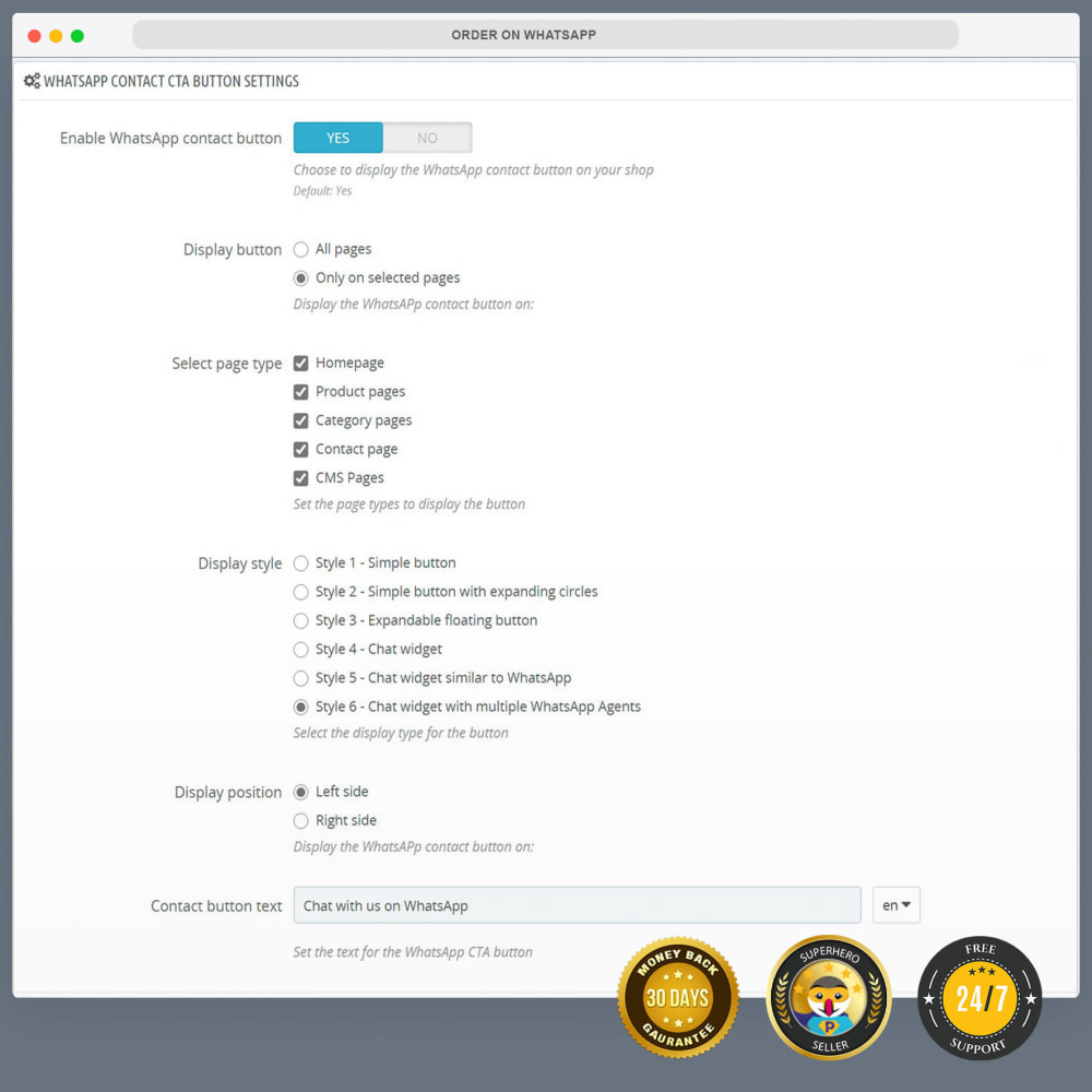 module - Suporte & Chat on-line - Integração com WhatsApp PRO - Pedido, Chat, Agentes - 14