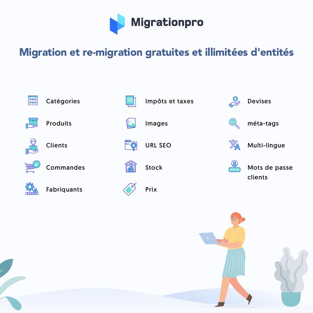 module - Migration de Données & Sauvegarde - Outil de migration Magento vers  PrestaShop - 2