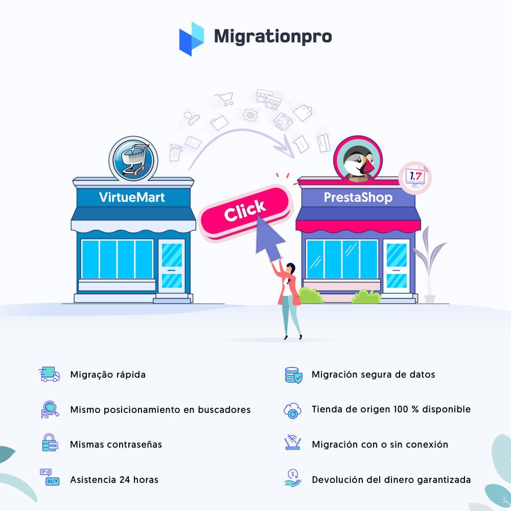 module - Migración y Copias de seguridad - Herramienta de migración de VirtueMart a PrestaShop - 1