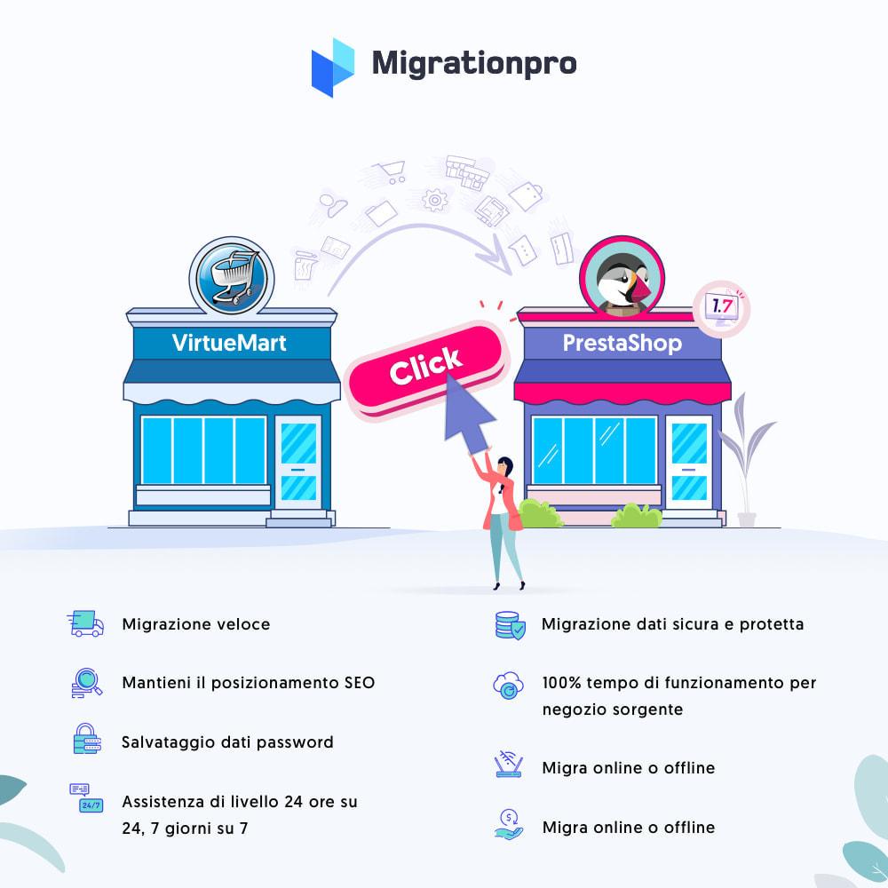 module - Data Migration & Backup - Strumento di migrazione da VirtueMart a PrestaShop - 1