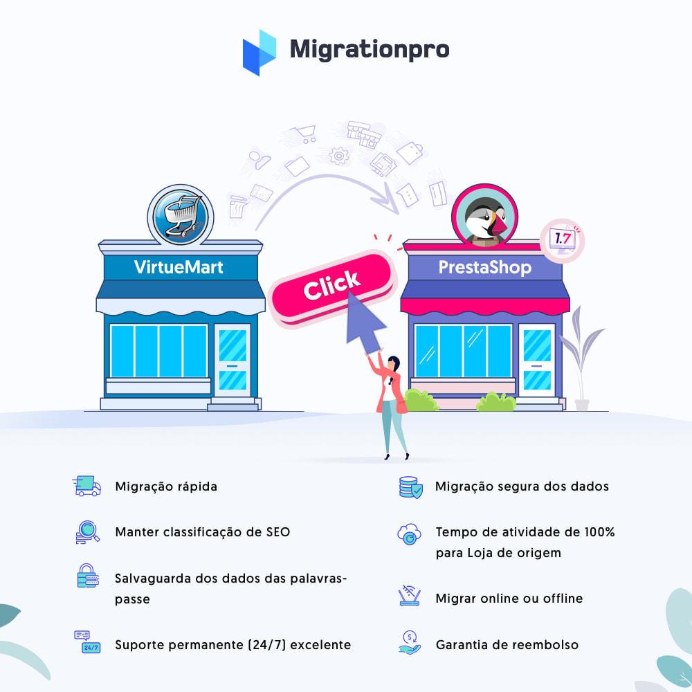 module - Migração de Dados & Registro - Ferramenta de Migração de VirtueMart para PrestaShop - 1
