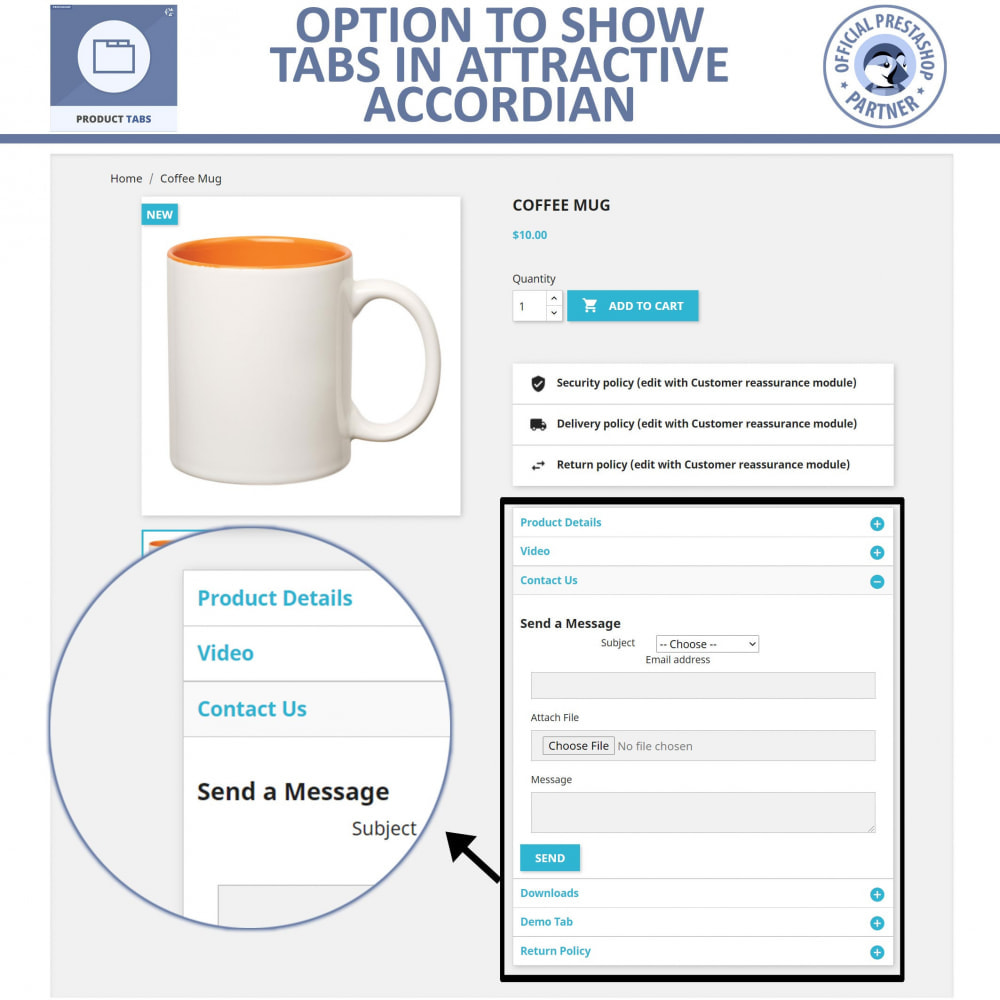 module - Additional Information & Product Tab - Product Tabs - Add Extra Tabs Custom - 5