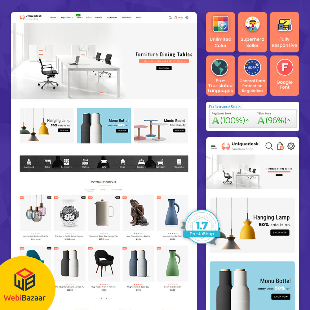 theme - Дом и сад - Uniquedesk - Modern Furniture Store - 1