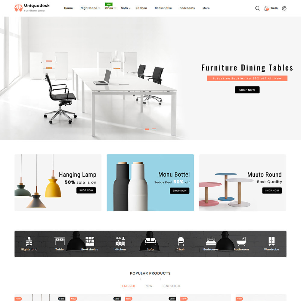 theme - Дом и сад - Uniquedesk - Modern Furniture Store - 2