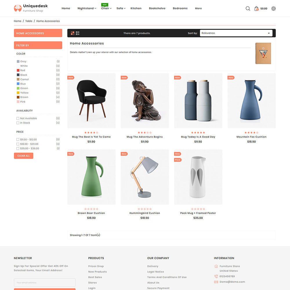 theme - Дом и сад - Uniquedesk - Modern Furniture Store - 3