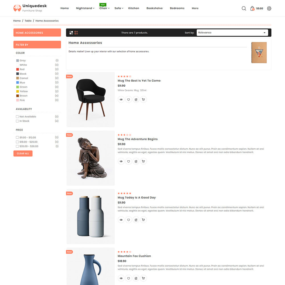 theme - Дом и сад - Uniquedesk - Modern Furniture Store - 4