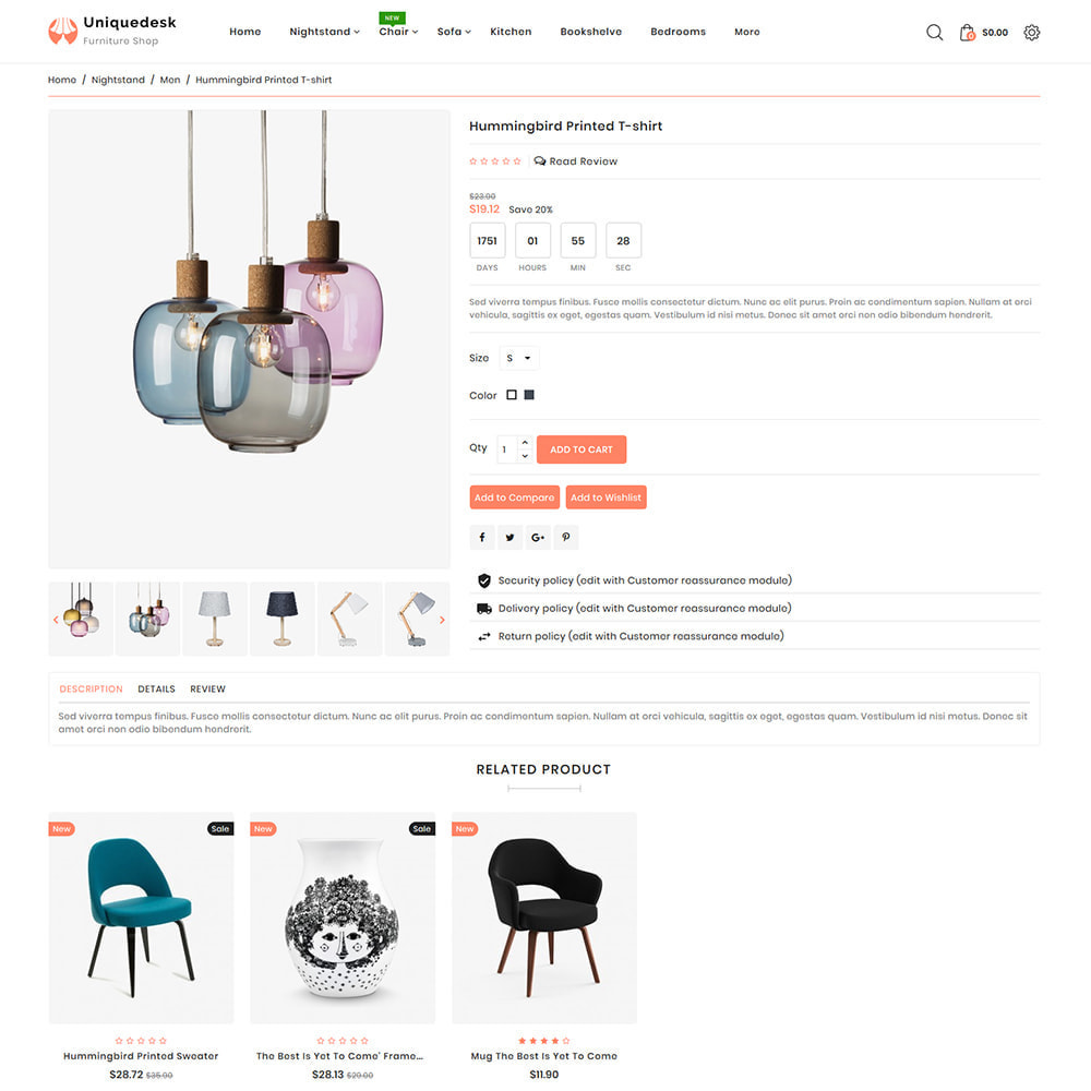 theme - Дом и сад - Uniquedesk - Modern Furniture Store - 5