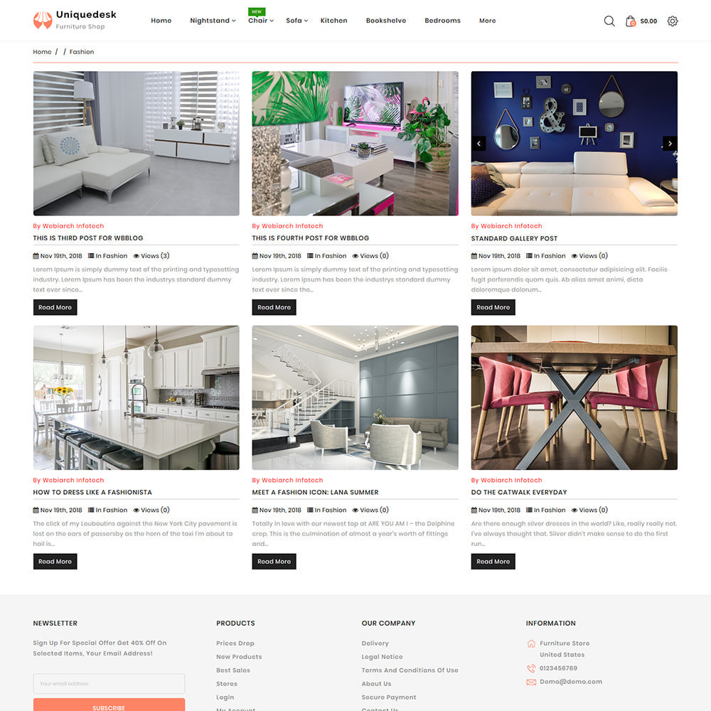 theme - Дом и сад - Uniquedesk - Modern Furniture Store - 6