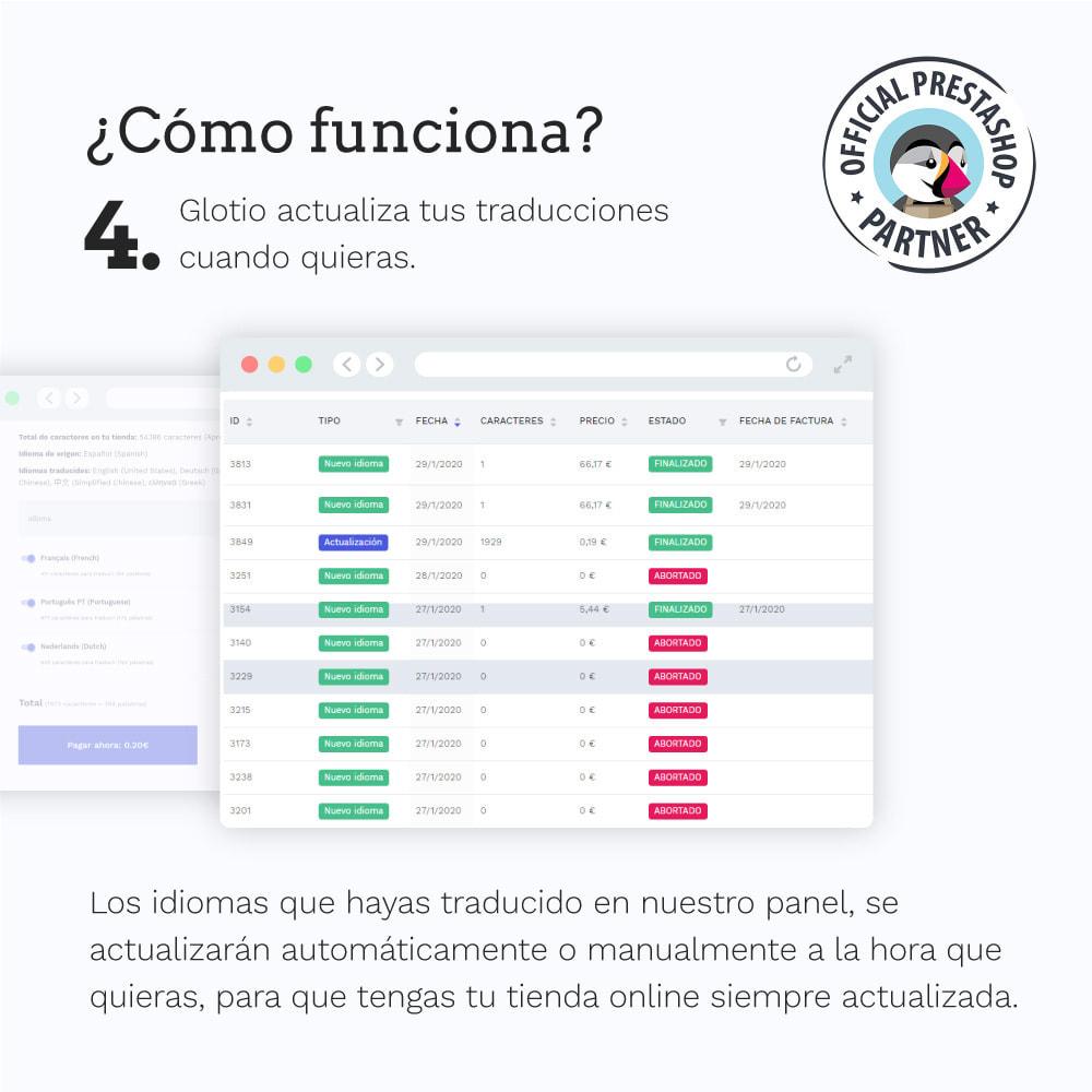 module - Internacionalización y Localización - Glotio - Traduce tu PrestaShop a más de 50 idiomas - 7