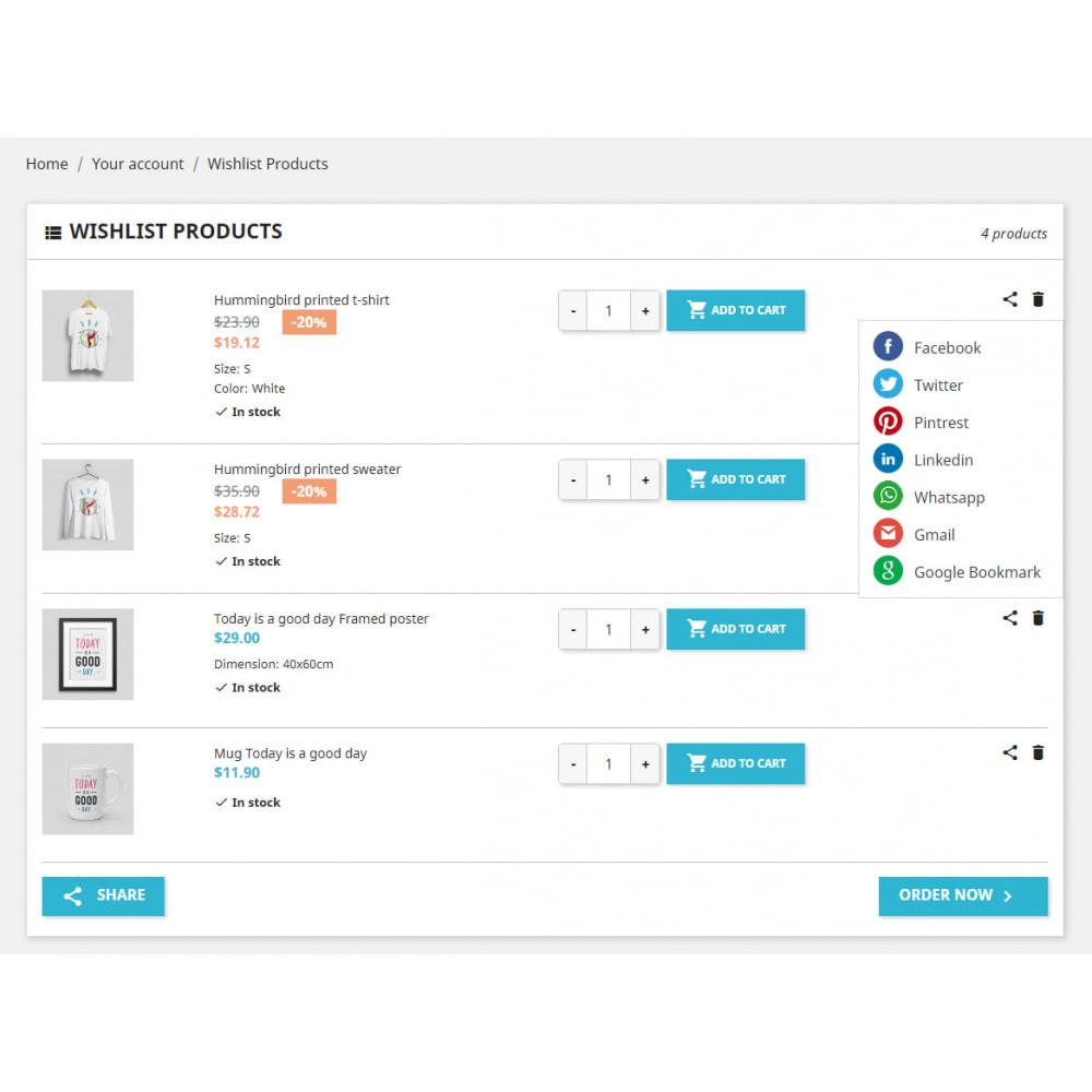 module - Liste de souhaits & Carte cadeau - Liste de souhaits avancée | Garder pour plus tard - 4
