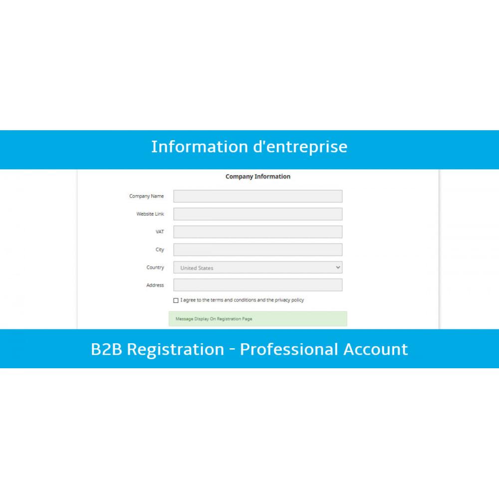 module - Inscripción y Proceso del pedido - B2B Registration - Professional Account - 2