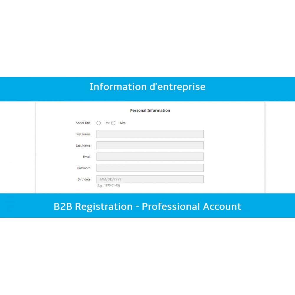 module - Inscripción y Proceso del pedido - B2B Registration - Professional Account - 3