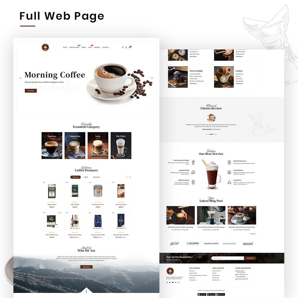theme - PrestaShop Templates - Coffee VIP Mega Coffee–Tea Nature–Beans Minimal Store - 2
