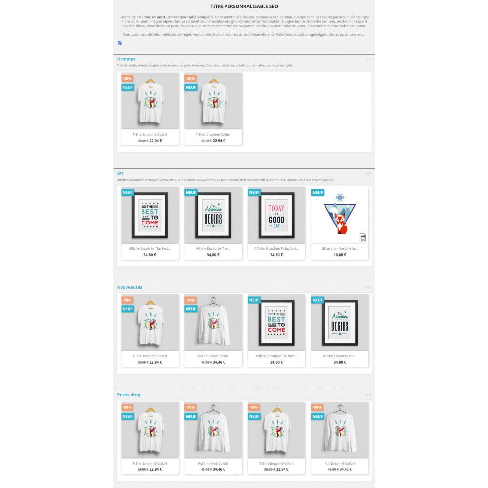 module - Déclinaisons & Personnalisation de produits - Products by categories on the home page - 7