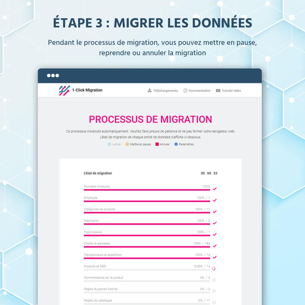 module - Migration de Données & Sauvegarde - 1 CLIQUEZ pour migrer ou mettre à niveau - 10