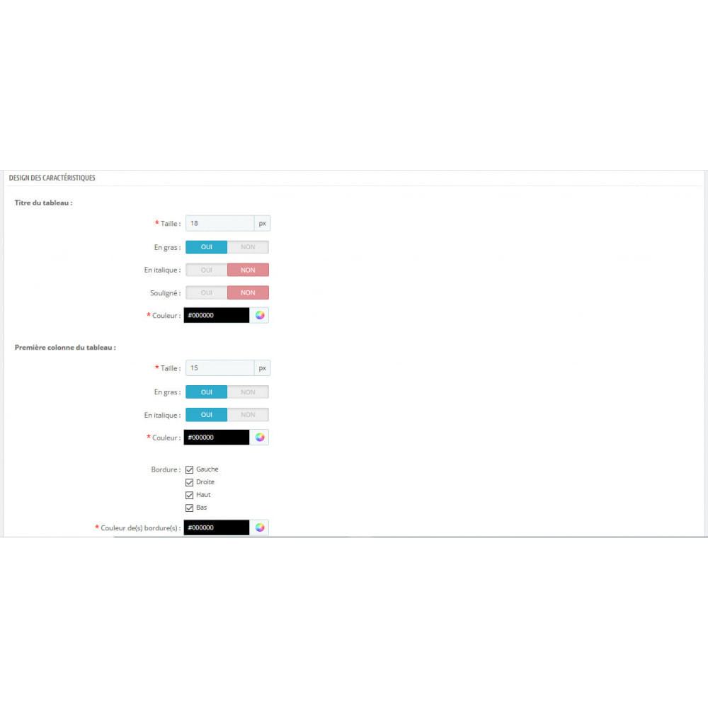 module - Personnalisation de Page - Ajout d'infos. aux caractéristiques de vos produits - 4