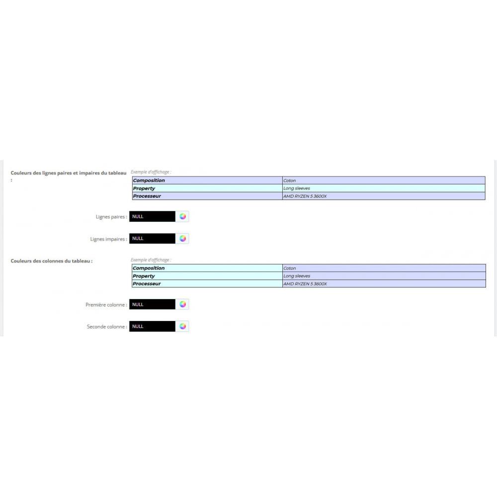 module - Personnalisation de Page - Ajout d'infos. aux caractéristiques de vos produits - 6