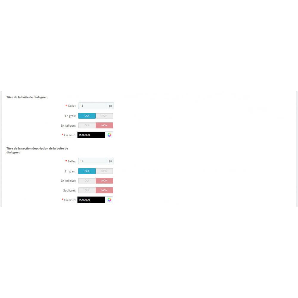module - Personnalisation de Page - Ajout d'infos. aux caractéristiques de vos produits - 8
