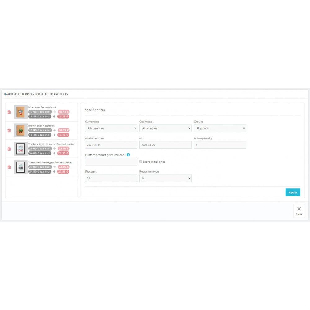 module - Быстрое & массовое редактирование - Specific Prices Editor - 6